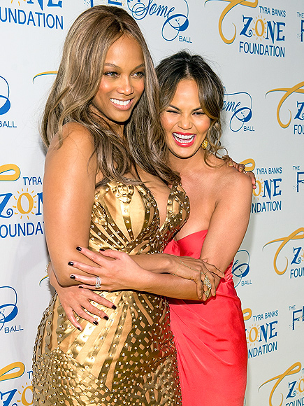 IN THE ZONE photo | Chrissy Teigen, Tyra Banks