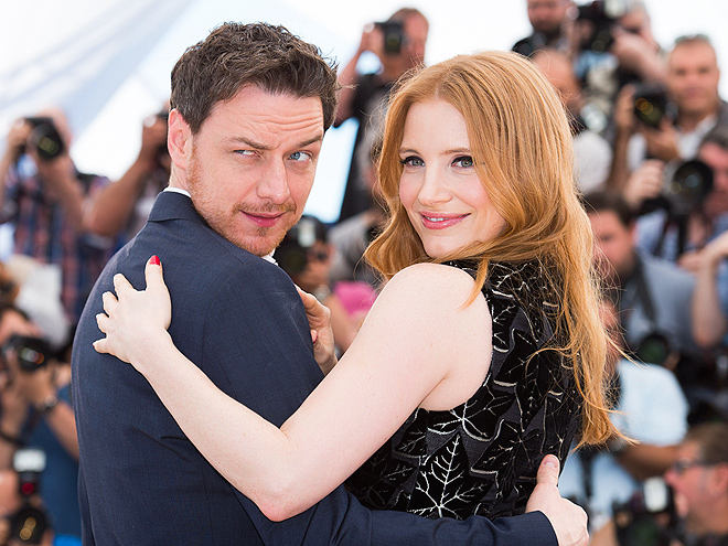 Cannes Couplings photo | James McAvoy, Jessica Chastain