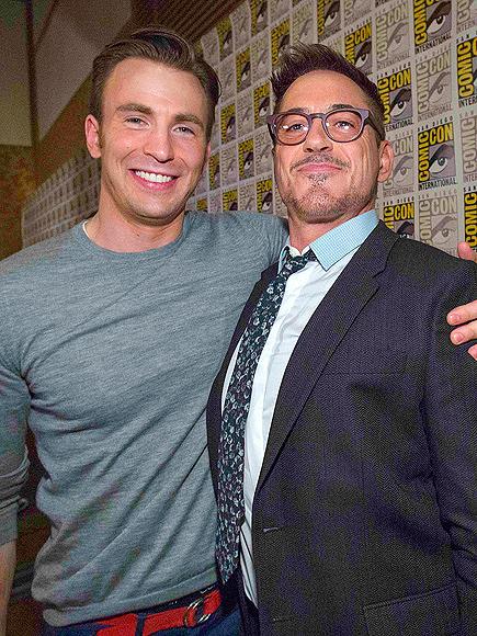 HANDSOME HEROES photo | Chris Evans, Robert Downey Jr.