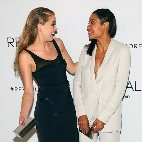 COLOR CONTRAST photo | Amber Heard, Rosario Dawson