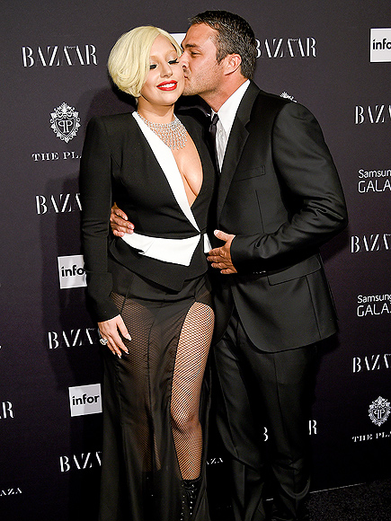 ACTING CHEEKY photo | Lady Gaga, Taylor Kinney