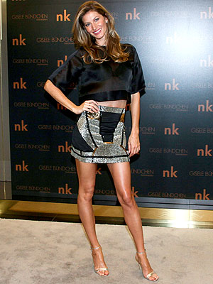 Gisele Bundchen sequin skirt