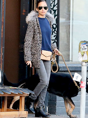 Nicole Richie fur sweater jacket