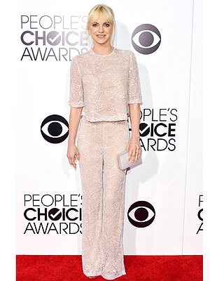 Anna Faris People's Choice Awards Pantsuit