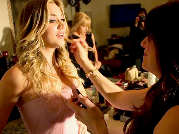 Kaley Cuoco wedding makeup