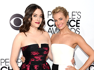 People's Choice Awards Style: See All of Kat Dennings and Beth Behrs's Outfit Changes