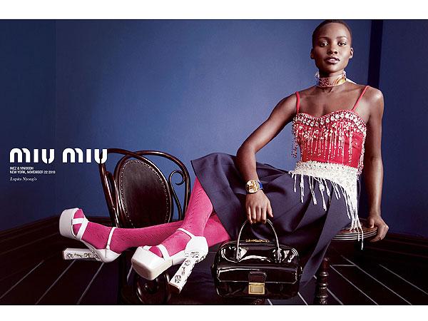 Lupita Nyong'o Miu Miu ad
