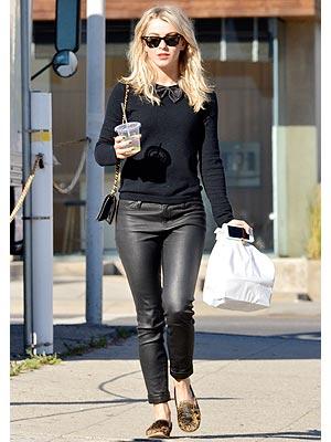 Julianne Hough leather pants