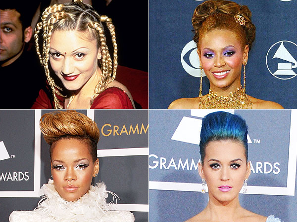 Gwen Stefani, Beyonce, Rihanna, Katy Perry Grammys hair