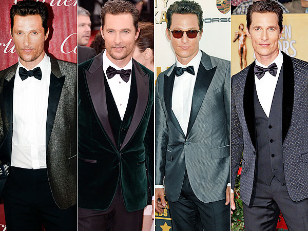 Matthew McConaughey award season style