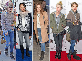 How to Look Cute in Cold Weather, Courtesy of Stars at Sundance | Ireland Baldwin, Kate Hudson, Rachel McAdams, Shailene Woodley, Zoe Saldana