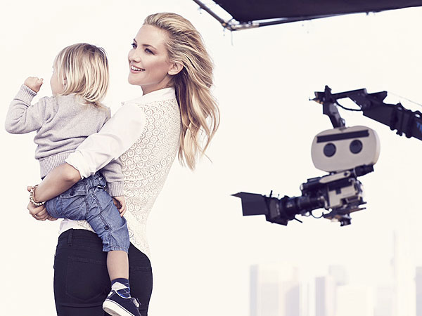 Kate Hudson Ann Taylor Spring 2014 Ads Sons Bing and Ryder