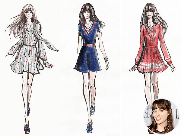 Zooey Deschanel Tommy Hilfiger