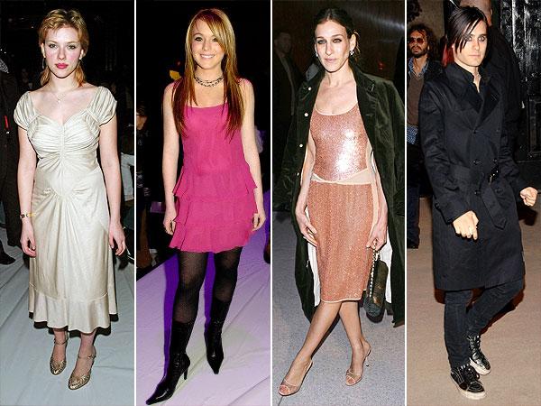 Scarlett Johansson, Lindsay Lohan, Sarah Jessica Parker and Jared Leto