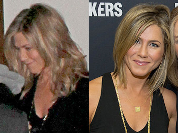 Jennifer Aniston ditches hair extensions