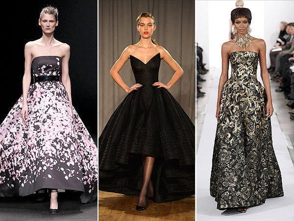 Monique Lhuillier, Zac Posen, Oscar de la Renta gowns, New York Fashion Week