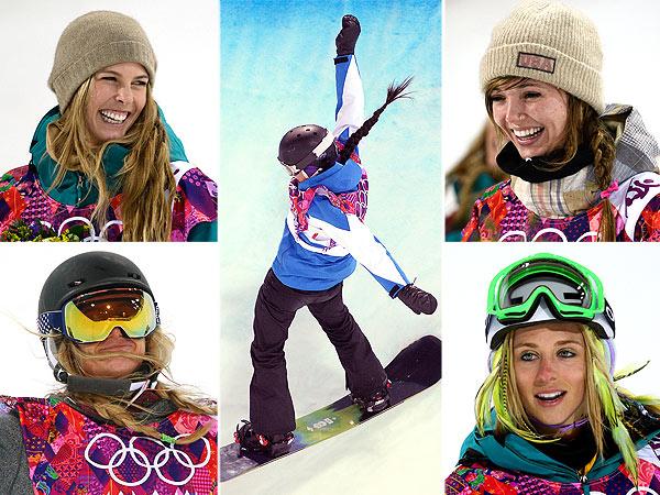 Sochi Women's snowboarders