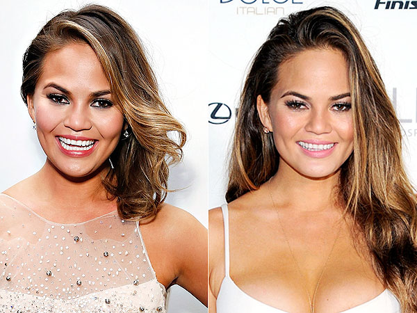 Chrissy Teigen hair extensions