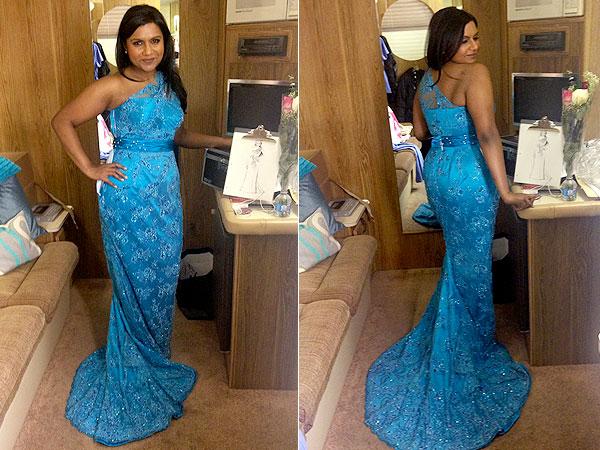 Mindy Kaling CDGA gown