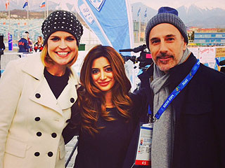 Noureen DeWulf Shares Sochi Adventures with Matt Lauer