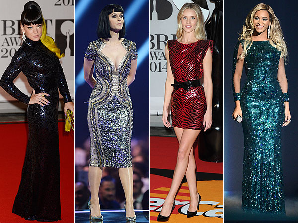 Lily Allen, Katy Perry, Rosie Huntington-Whiteley, Beyonce