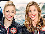 Gracie Gold and Ashley Wagner Wear the Same Red Lipstick, Rely on Prayer for Hair