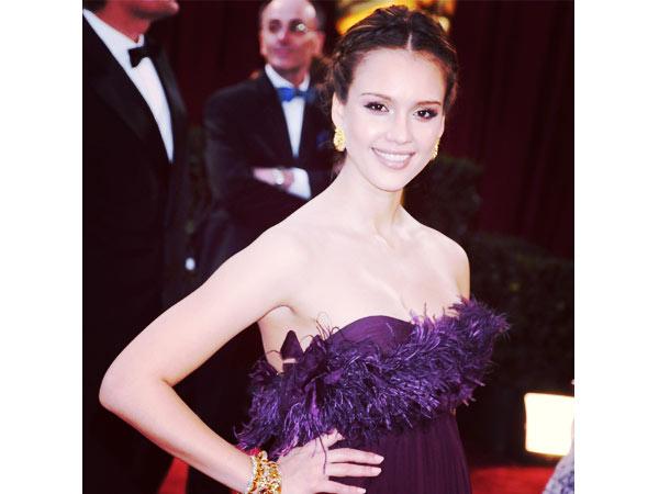 Jessica Alba pregnant Oscars