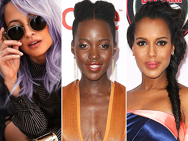 Nicole Richie, Lupita Nyong'o, Kerry Washington hair