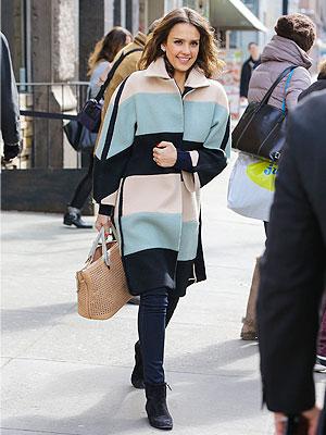 Jessica Alba coat