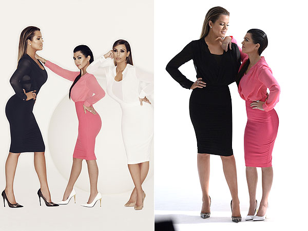 Kourtney and Khloe Kardashian style