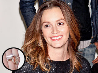 PHOTO: See Leighton Meester's Giant Engagement Ring & Wedding Band! | Marriage, Adam Brody, Leighton Meester