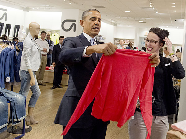 Barack Obama at the GAP