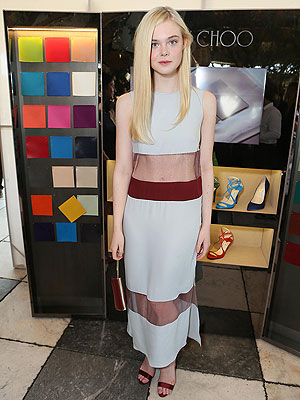 Elle Fanning Wes Gordon dress
