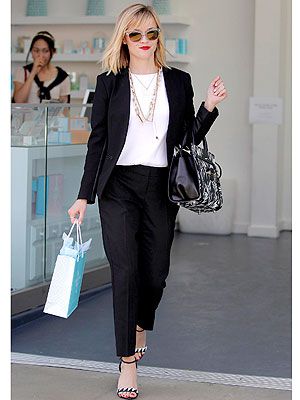 Reese Witherspoon black separates