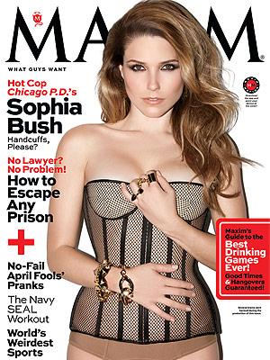 Sophia Bush Wears Skintight See-Thru Corset in Sexy Magazine Spread| Chicago P.D., Sophia Bush