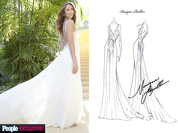 Stacy Keibler Wedding Dress sketch