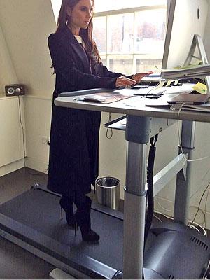 Victoria Beckham treadmill