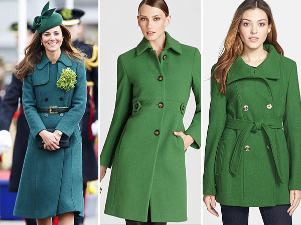Kate Middleton, green coat