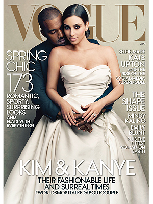 Kim Kardashian and Kanye West Vogue cover
