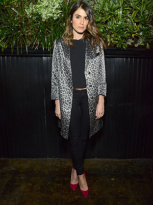 Nikki Reed animal print jacket