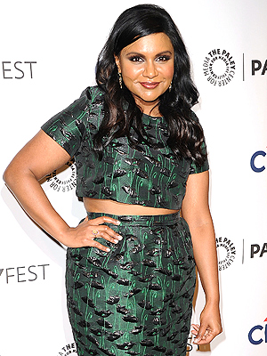 Mindy Kaling crop top