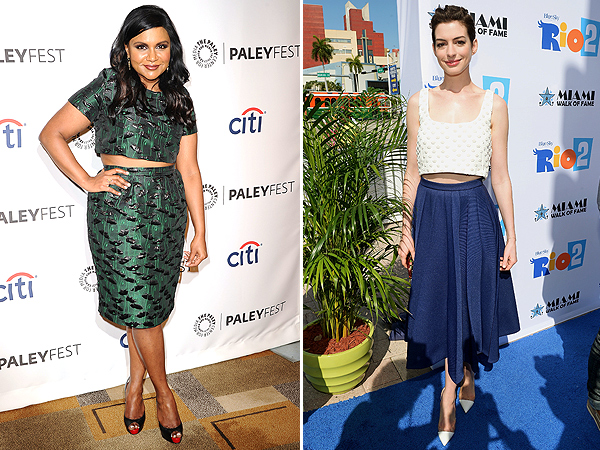 Mindy Kaling, Anne Hathaway Crop Top