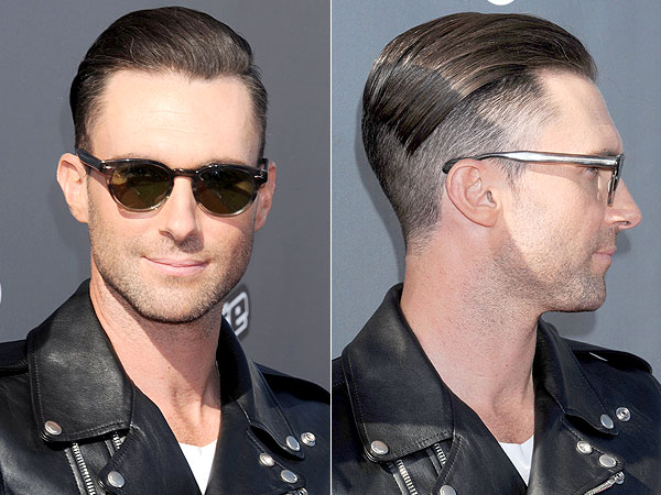 Adam Levine Half Shaved head