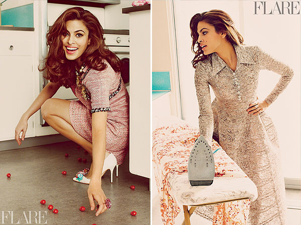 Eva Mendes Flare Magazine Photos