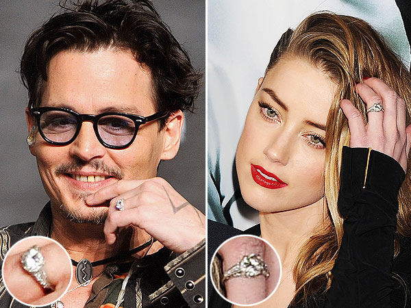 Johnny Depp engagement ring