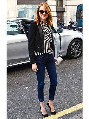 Emma stone suit