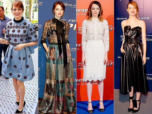 Emma Stone dresses, Spiderman Style