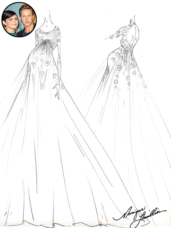 Ginnifer Goodwin Wedding Dress Sketch