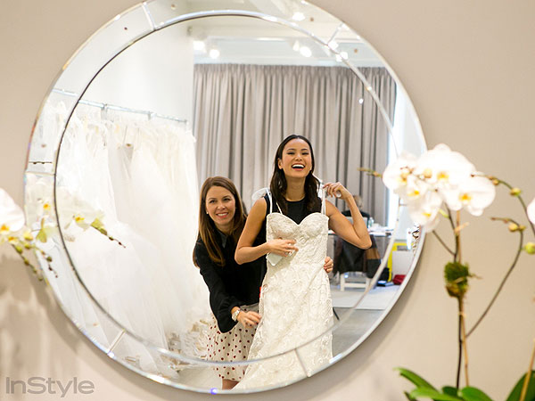 Jamie Chung wedding dress shopping