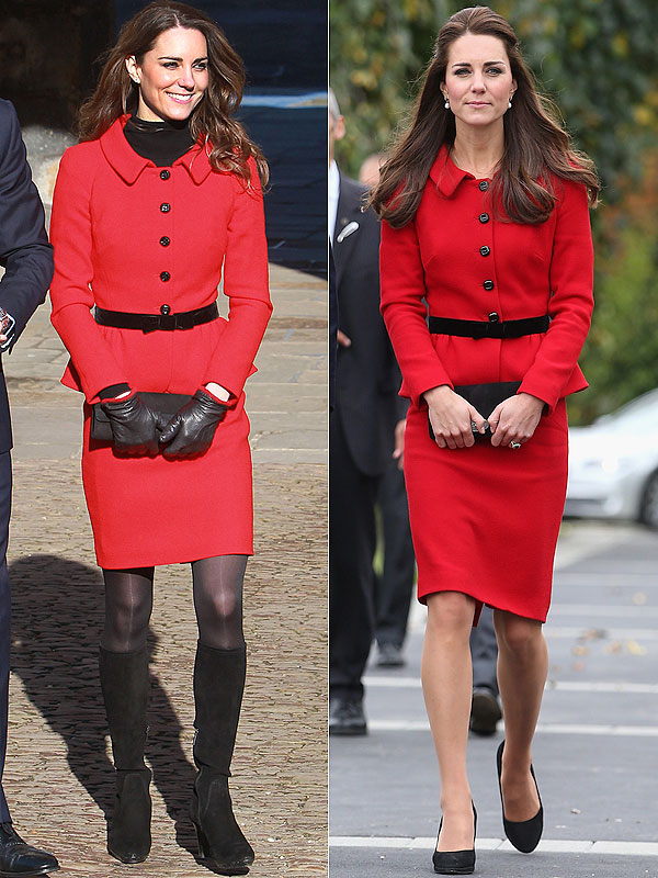 Kate Middleton red suit new zealand